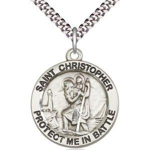 Sterling Silver St Christopher Pendant